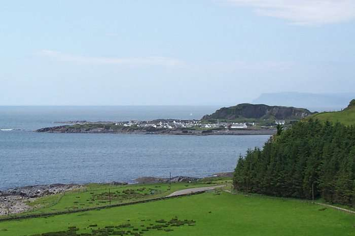 Looking across to Easdale Island